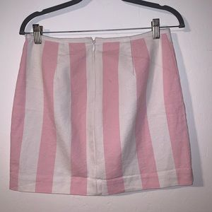 Madewell mini skirt - stripped pink & white